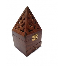 Desi Karigar Long Carved Lobandaan (dhoop Stand)
