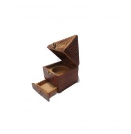 Desi Karigar Beautifull Wooden Lobandaan (dhoop Stand)