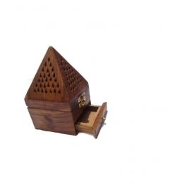 Desi Karigar Beautifull Small Wooden Lobandaan (dhoop Stand)