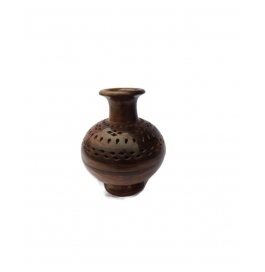 Desi Karigar Beautifull Wooden Matki Shaped Lobandaan (dhoop Stand)