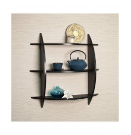 Black Three Tier Half Moon Shelf
