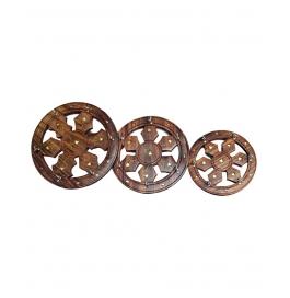 Round Wheel Shaped Key Hangers (set Of 3)