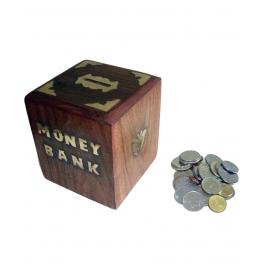 Desi Karigar Sheesham Wood Money Bank