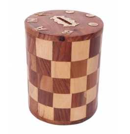 Desi Karigar Wooden Money Bank