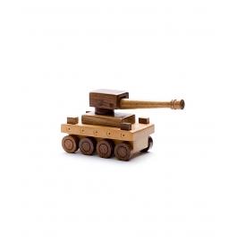 Desi Karigar Beautiful Wooden War Tank Toy Showpiece