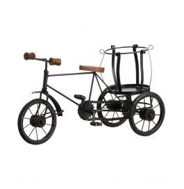 Desi Karigar Wooden Rickshaw Bottle Holder