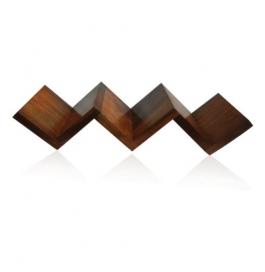 Desi Karigar Beautiful Rosewood Fancy Modern Zigzag Wall Shelf