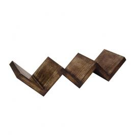 Desi Karigar Beautiful Mango Wood Fancy Modern Zigzag Wall Shelf