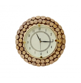 Desi Karigar Fancy Wooden Wall Hanging Clock Watch