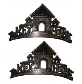Desi Karigar Black Wood Key Holder - Set Of 2