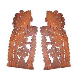 Desi Karigar Brown Wooden Wall Hanging - Set Of 2