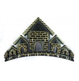 Desi Karigar Beautiful Home Shaped Wooden Wall Key Hanger Panel