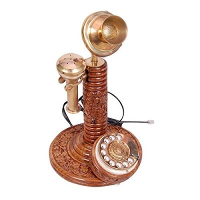 Desi Karigar Antique Vintage Maharaja Style Brass Phone Fully Working.