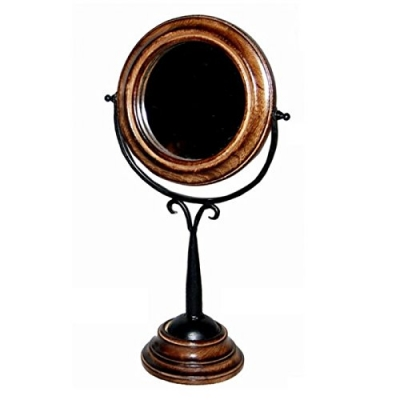 Desi Karigar  Antique Fancy Design Wooden Mirror Frame Size(lxbxh-9x5x17) Inch