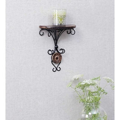 Desi Karigar Beautiful Wood & Wrought Iron Fancy Wall Bracket