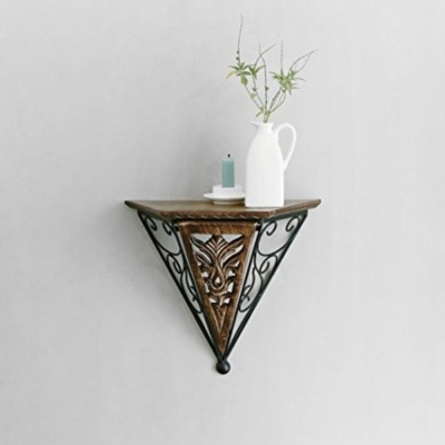 Desi Karigar  Beautiful Wood & Wrought Iron New Fancy Wall Bracket
