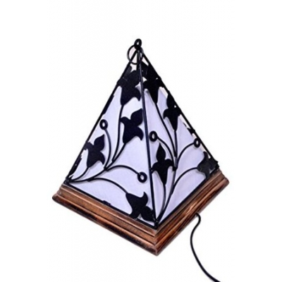 Desi Karigar Contemporary Wooden & Wrought Iron Lamp Handmade Antique Look Diwali Special Product