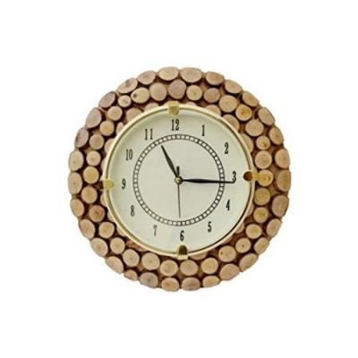 Desi Karigar  Fancy Wooden Wall Hanging Clock Watch, Size(lxbxh-11x1x11) Dail Size 7 Inch