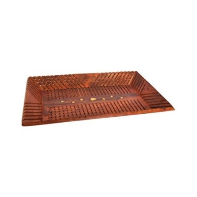 Desi Karigar Handicrafts Wooden Rect Lining Tray