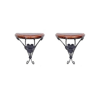Desi Karigar  Home Decor Shelf Rack Wall Bracket Wall Rack Set Of 2