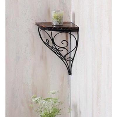 Desi Karigar Home Decor Wall Hanging Fancy Bracket Wooden, Iron Wall Shelf