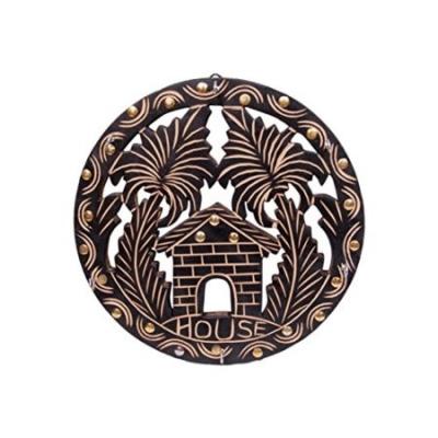 Desi Karigar  Wooden Antique Key Holder Size(lxbxh-28x2x28) Cm