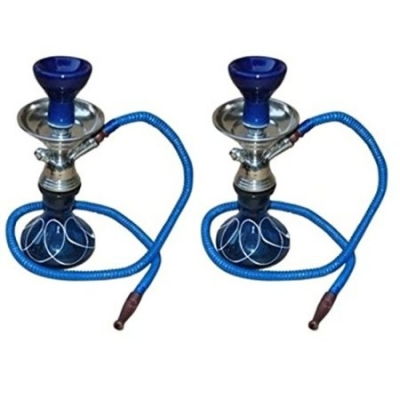 Desi Karigar  Blue Hookah With Coal Pack And Flavor,pack Of 2