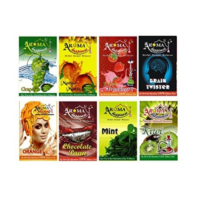 Desi Karigar Aroma Happiness Herbal Hookah Flavour Combo Of 8 Pack