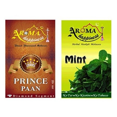 Desi Karigar Aroma Happiness Hookah Flavor - Pack Of 2 (prince Paan - 50 G, Mint - 50 G)