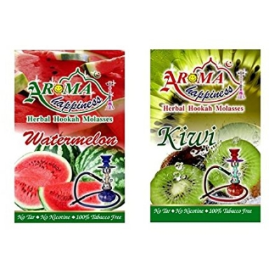 Desi Karigar Aroma Happiness Hookah Flavor - Pack Of 2 (watermelon - 50 G, Kiwi - 50 G)