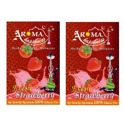 Desi Karigar Aroma Happiness Hookah Flavor - Pack Of 2 (strawberry - 50 G, Strawberry - 50 G)
