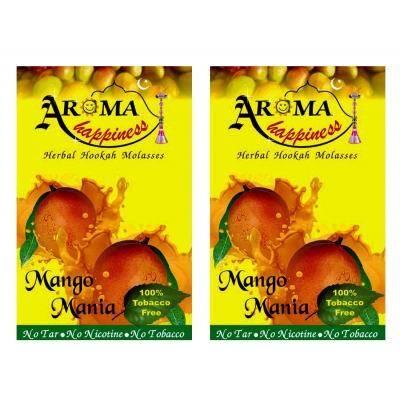 Desi Karigar Aroma Happiness Hookah Flavor - Pack Of 2 (mango- 50 G, Mango - 50 G)