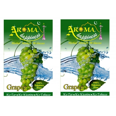 Desi Karigar Aroma Happiness Hookah Flavor - Pack Of 2 (grapes - 50 G, Grapes - 50 G)