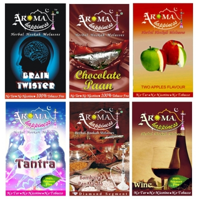 Desi Karigar Aroma Happiness Assorted Hookah Flavor - Pack Of 6