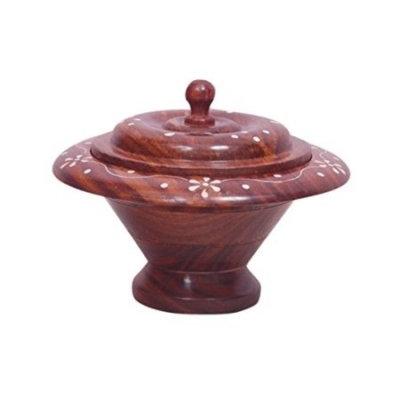 Desi Karigar  Wooden Kitchen Ware Dry Fruit Box Sise (lxbxh-7x7x5) Inch