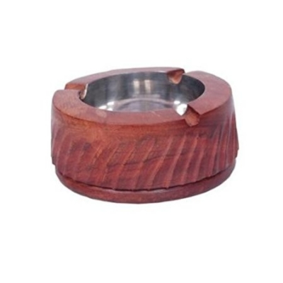 Desi Karigar Wooden Premium Quality Antique Ashtray With Beautifully Handicrafts Design