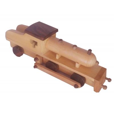 Desi Karigar Wooden Toy Engine ( Yellow )