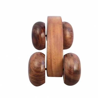 Desi Karigar Wooden Hand Massager Roller Body Stress Acupressure