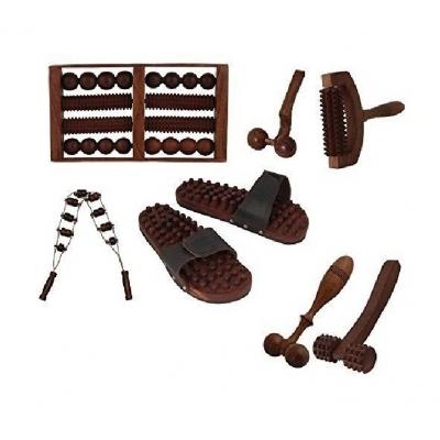 Desi Karigar Complete Kit Of 7 Pcs Wooden Acupressure Massage