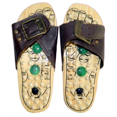 Desi Karigar Wooden Slipper Foot Accupressure Massager