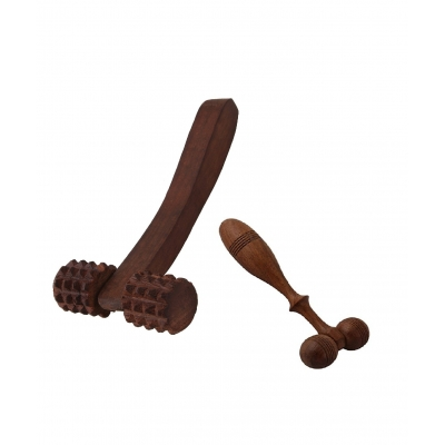 Desi Karigar Wooden Body And Face Massager