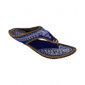 Blue Flat Ethnic Footwear