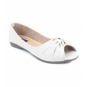 Women Designer White Ballerinas