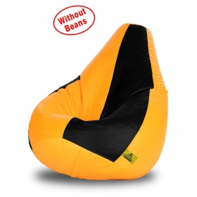 Bean Bag-xl Black&yellow-cover(without Beans) Be The First To Review  Have A Question? Free Installation
