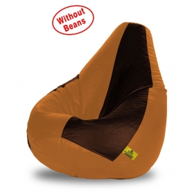 Bean Bag-xl Brown&beige-cover(without Beans)