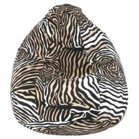 Xxxl Bean Bag-zebra-with Fillers/beans