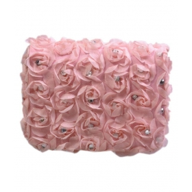 Pink Fabric Box Clutch