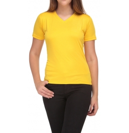 Women T-shirt 100% Cotton Yellow