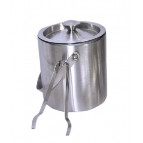 Double Wall Ice Bucket And Ice Tong Set