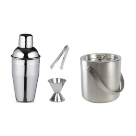 Stainless Steel Premium Bar Set Of 4 Piece